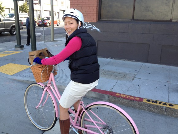 Jane Kim during Bike to Work Day. Photo: SFBC