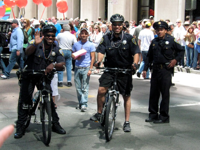 THIS is what bike patrols look like. Photo: Violet Blue.