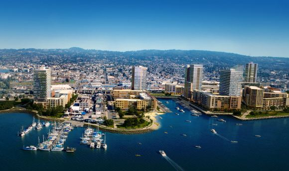 SPUR looked at the Brooklyn Basin and the transformative effect it will have on the Oakland waterfront. Image: Signature Properties.