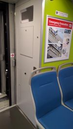 New energy absorption safety tech means the last row of seats is replaced by a utility closet. Photo: Streetsblog