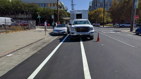 KK needs to pass. But Oakland also needs to change its ways when it comes to street treatments. Photo: Streetsblog