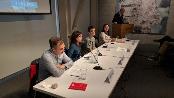 SPUR's panel today discussed the Prototyping Festival and what it says about using art to promote social interactions on our street. Photo: Streetsblog
