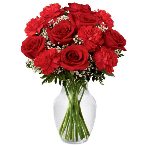 Red roses in a rose delivery for fathers day, red rose delivery