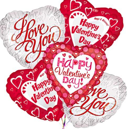 Valentines Day Mylar Balloon Bouquet At Send Flowers