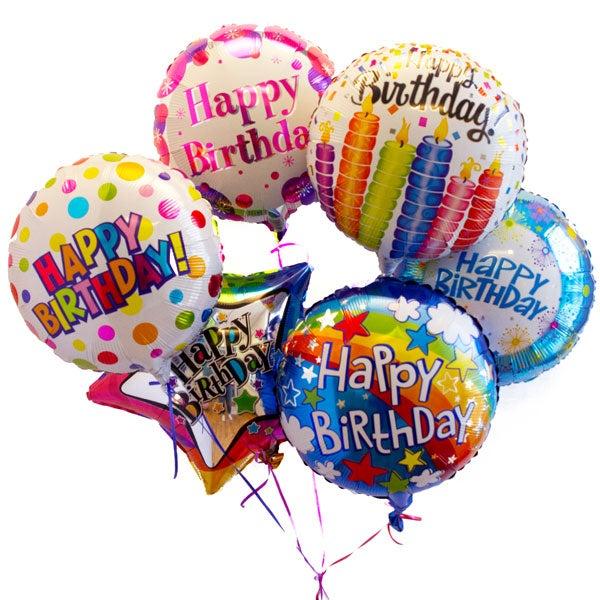 Happy Birthday Mylar Balloon Bouquet At Send Flowers