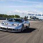 La dernière Bugatti de course, l'EB 110 SC, a repris la piste