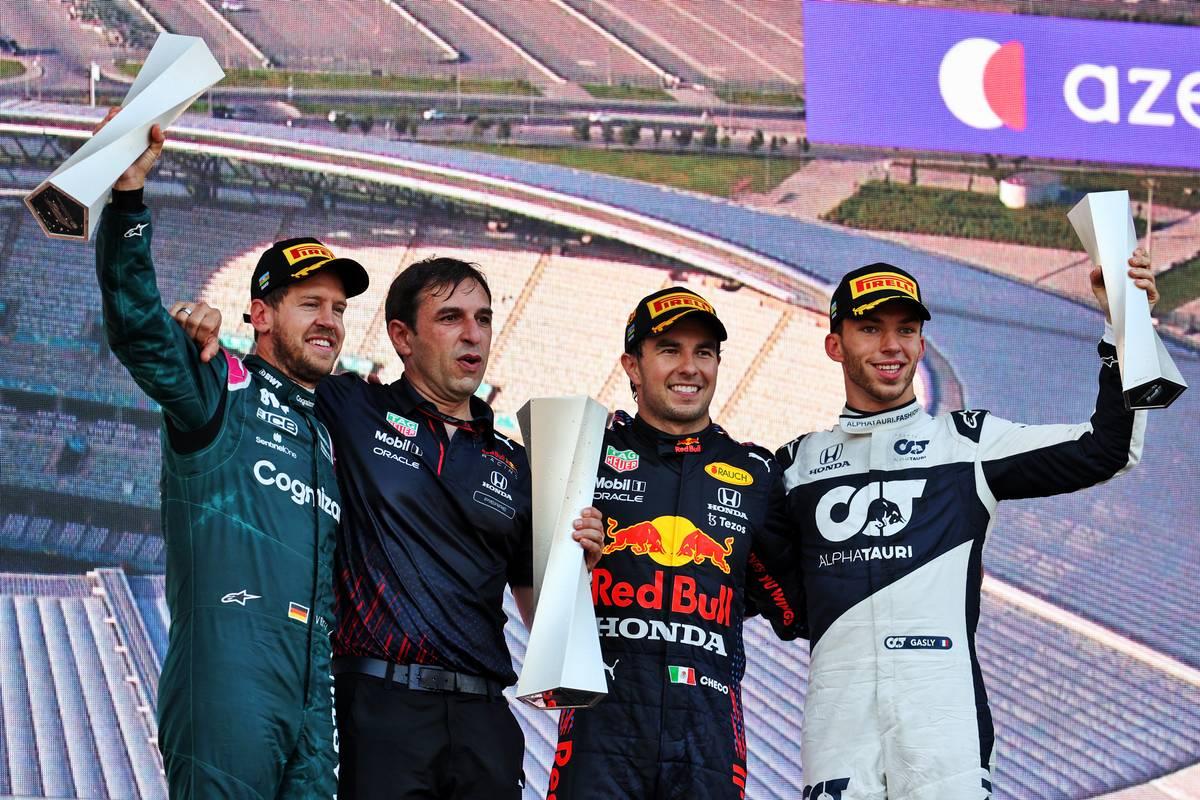 GP d'Azerbaïdjan: victoire de Pérez devant Vettel et Gasly !