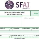 REPORTE DE CONCILIACIÓN FISCAL – ANEXO FORMULARIO 110