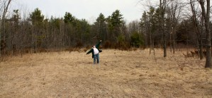 Greg flight-testing a potential location