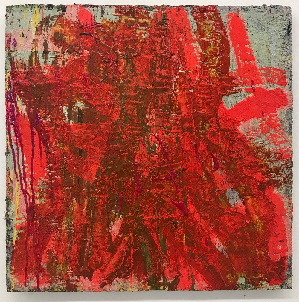 "Benjamin Pritchard ""Fire"" (2018, oil on panel, 20"" x 20"")"