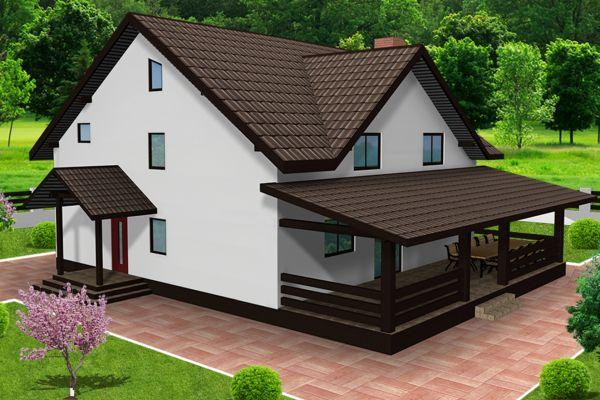 Case cu terase din lemn tot confortul necesar unei for Case cu terase
