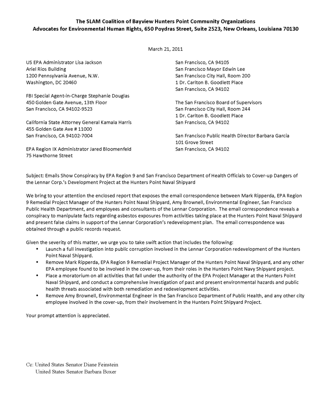 San Francisco Bay View » Emails Show Regulators Conspiring