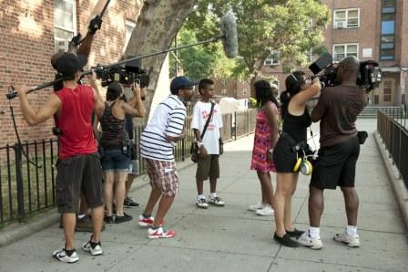 Spike Lee filming 'Red Hook Summer'
