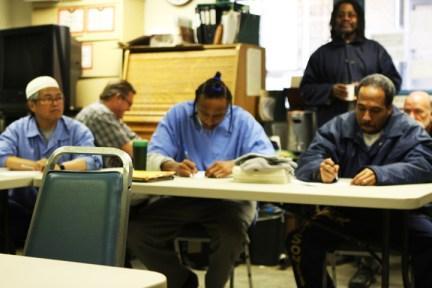 Spoon Jackson's writing class at New Folsom Prison