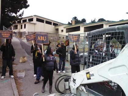 ABU protest Willie Brown Academy 082112 courtesy ABU, web