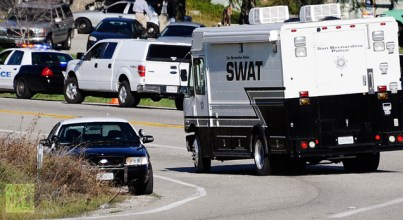 Christopher Dorner manhunt near Angelus Oaks 021213 by Gene Blevins, Reuters