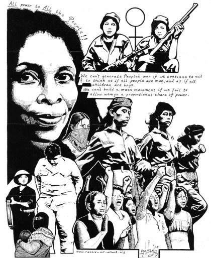 'Womyn Freedom Fighters' by Kevin 'Rashid' Johnson, web