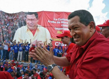 Hugo Chavez rally 2007