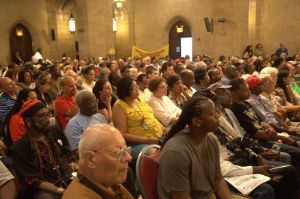 Riverside Church packed for Cynthia McKinney on Libya 093011