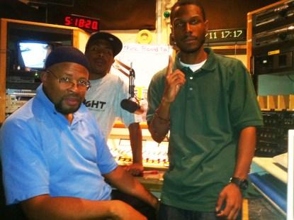 KBOO Portland jazz show host Yugn, JR, Malcolm 0811 by brr, web