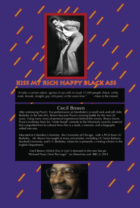 'Pryor Lives How Richard Pryor Became Richard Pryor' by Cecil Brown, back cover