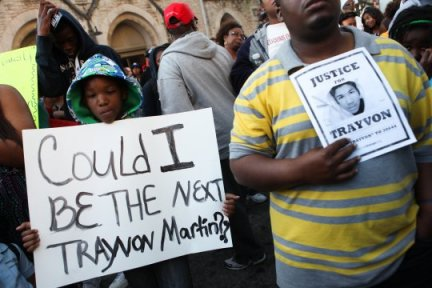 Child's sign 'Could I be the next Trayvon Martin'