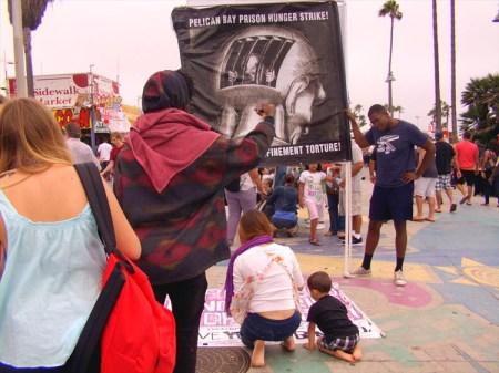 Hunger strike outreach Venice Beach 072813 by Keith James