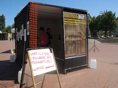 Mock SHU cell by Stop Mass Incarceration Network