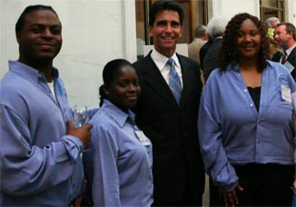 Sen. Mark Leno with SF Conservation Corps members at SFCC 25th anniversary SF City Hall