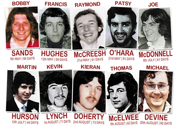 The 10 Irish republicans who died on hunger strike in 1981