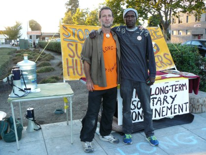 60-hour solidarity fast with prison hunger strikers outside Gov. Brown's condo 27th & Telegraph, Oakland 0905-0713