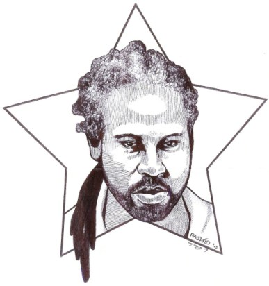 Kevin 'Rashid' Johnson Self Portrait 2013, web