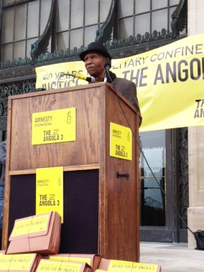 Robert King Angola 3-AI press conf & petition delivery to Gov. Bobby Jindal, Louisiana capitol 041712 by A3 Coalition
