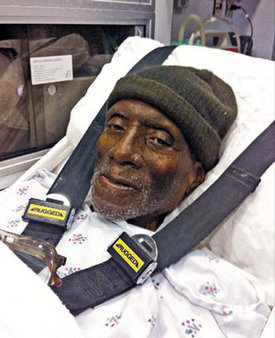 Herman Wallace released in ambulance 100113 by Democracy Now