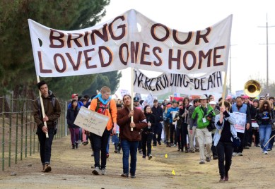 Chowchilla Freedom Rally march 'Bring our loved ones home' 'Overcrowding death' 012613 by Bill Hackwell