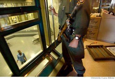 Folsom Prison C-8 Block Control Booth 110707 by Lucy Atkins, SF Chron