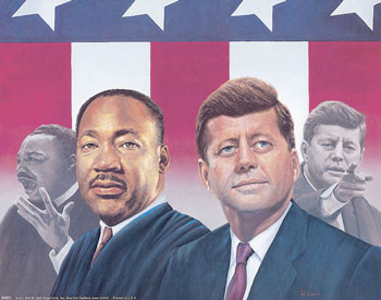 Martin Luther King, John Kennedy poster