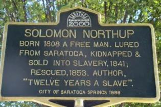 Solomon Northup '12 Years a Slave' marker City of Saratoga Springs