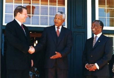 Gore, Mandela, Mbeki Cape Town 021799 by Molly Bingham, White House