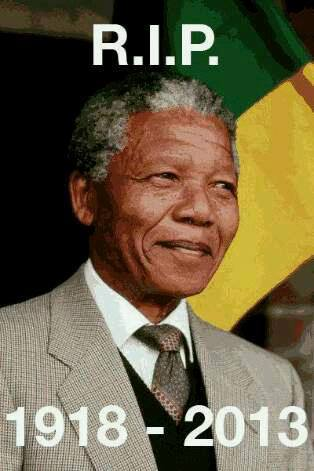 R.I.P. Nelson Mandela 1918-2013 poster by Abahlali baseMjondolo
