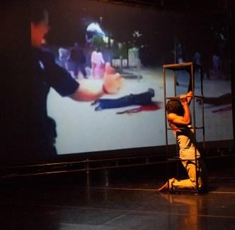 ZacchoGÇÖs GÇÿBetween me & the other worldGÇÖ Rashidi Omari caged, Kenneth Harding video 1113 by Piro Patton
