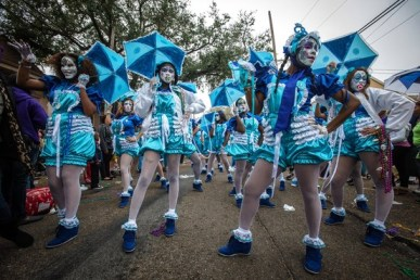 New Orleans Baby Doll Ladies in 2013 Zulu Parade by Getty Images