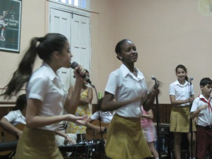 Richmond Regla Cuba Tour La Colmenita girl musicians 1213 courtesy Marilyn Langlois, web