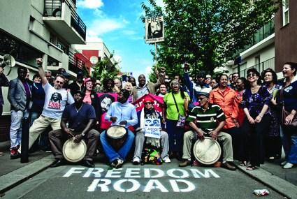 Rue Mumia Abu Jamal 5th anniversary celebrated in Saint Denis, France 050811