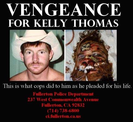 'Vengeance for Kelly Thomas' poster