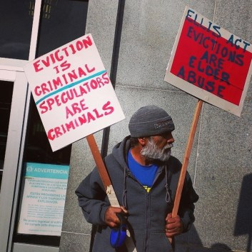 Remigio Fraga 'Ellis Act evictions are elder abuse' Hall of Justice 020514 by PNN