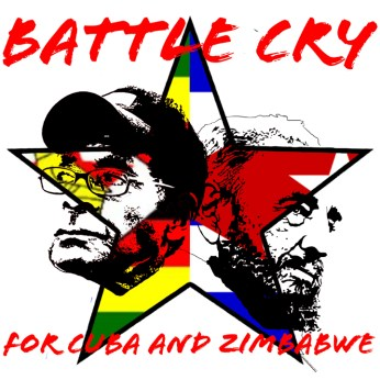 'Battle Cry for Cuba and Zimbabwe' T-shirt design by Dr. Chris Zamani