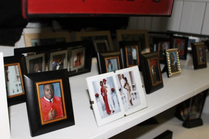College  Prep wall of fame, pictures of graduates by Laura Savage