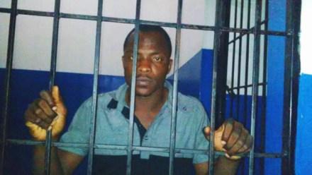 Jean Lamy Matulnes Jr. jailed in Nat'l Penitentiary, Port au Prince, Haiti 0214