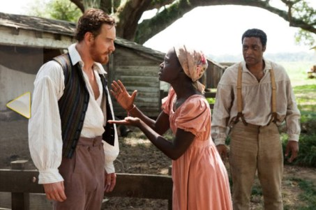 Michael Fassbender as Edwin Epps, Lupita Nyong'o as Patsey, Chiwetel Ejiofor as Solomon Northup in '12 Years a Slave' by Fox Searchlight Pictures